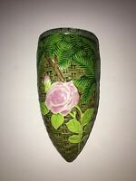 Vintage Antique Majolica Wall Pocket/Vase~Excellent