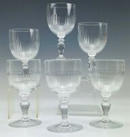 6 Signed Baccarat France French Crystal Renaissance 5 3/4