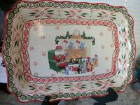 Temptations Old World Christmas Platter New 19quot; x 13 1 2quot;