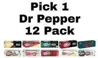 Pick 1 Soda Pop 12 Pack: Coca Cola Diet Mountain Dew Pepsi amp; More Soft Drinks