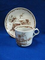1800#x27;VICTORIAN BROWN TRANSFERWARE AESTHETIC SHAKESPEARE GRINDLEY CUP amp; SAUCER