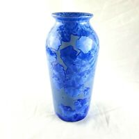 Jon Price Crystalline Pottery Vase E 1 3805 Blue