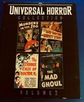 UNIVERSAL BLU RAY HORROR COLLECTION V2 4 MOVIE MURDERS IN THE ZOO MAD GHOUL $59.99