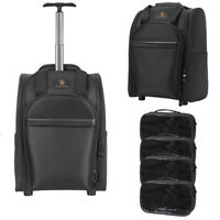 Portable Cosmetic Makeup Case Rolling Travel Bag Business Wheels Trolley Luggage