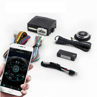 Car One Key Stop Button Kit Bluetooth Smart Start System Phone Remote Control $52.10