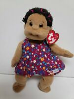 Ty Beanie Kids New Cutie MWMT African American Doll with Flowered Dress 10.5quot;