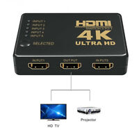 1080P 4K 5 Input Output HDMI Splitter 3 Port SWITCH BOX UHD Remote Control Tool $10.23