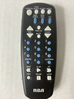 RCA Universal Remote Control for TV VCR DVD amp; Cable in Black $9.99