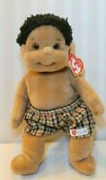Ty Beanie Kids New Rascal MWMT African American Boy with Plaid Shorts 10.5quot;