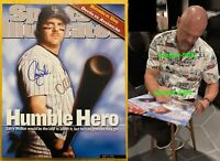 LARRY WALKER SIGNED AUTOGRAPHED 16x20 SPORTS ILLUSTRATED CANVAS PRINT PHOTO