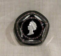 St Louis France Couronnement Paperweight Dated 2-6-53