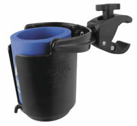 RAM Motorcycle ATV Tough-Claw Mount with Level-Cup Drink Holder RAM-B-132-400U