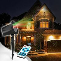 CHRISTMAS HOLIDAY LASER LIGHTS PROJECTOR OUTDOOR WATERPROOF REMOTE CONTROL