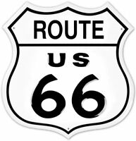Route 66 Shield Die Cut Retro Tin Metal Sign 12 x 12in