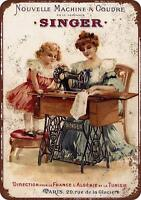 1889 French Singer Sewing Machines Vintage Rustic Retro Metal Sign 8