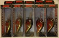 Lot of 5 New Rapala Clackin' Crank CNC-610 Fishing Lures RCW / Red Crawdad