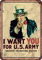 Uncle Sam ''I Want You'' US ARMY Vintage Retro Metal Sign 8
