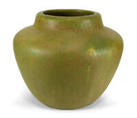 LARGE ROSEVILLE EARLY CARNELIAN MATTE GREEN ARTS & CRAFTS AMERICAN POTTERY VASE