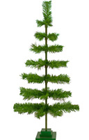 48'' Alpine Green Christmas Tree Tinsel Feather Style Holiday Tree 4FT Table-Top