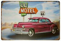 Motel 66 Route 66 Vacancy Retro Vintage Decor Metal Tin Sign 12 X 8 Inches