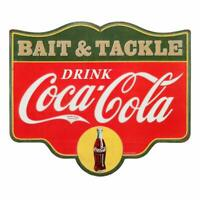 Drink Coca-Cola Bait & Tackle Metal Sign 14 x 12 inches