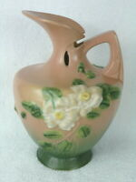 ROSEVILLE Pottery WHITE ROSE Ewer #990-10 Coral Colored  1940's