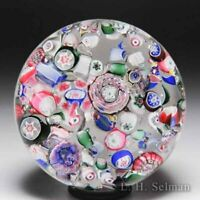 Antique New England Glass Company end-of-day scrambled millefiori paperweight