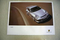 PORSCHE OFFICIAL SILVER 911 GT2 LARGE OFFICIAL SHOWROOM POSTER 2001 - 2002