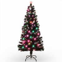6FT Premium Christmas Tree w/ Color LED Multicolor Lights & Stand, UL Certified