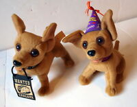 2 Taco Bell Chihuahua Dog (s) Talking 2000 Drop The Chalupa Happy New Year Plush