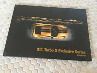 PORSCHE HARDBACK 911 TURBO S COUPE EXCLUSIVE PRESTIGE BROCHURE USA EDITION 2018