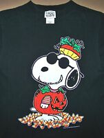 92e3610dc6 PEANUTS   SUNGLASSES   HALLOWEEN   SNOOPY   ADULT BLACK T-SHIRT SIZE M