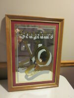 Seagram's VO Canadian Whisky Bar Decor Mirror Sign Advertising VTG WOOD FRAME