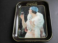Drink Coca-Cola, Flapper Girl-Tray 1973 Reproduction from 1925 Advertisement.