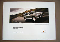 PORSCHE OFFICIAL CAYENNE TURBO INTRODUCTORY 4 CORNERS ADVERTISING POSTER 2003.