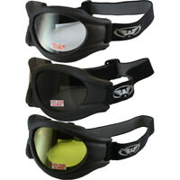 3 Pair Big Ben ATV Goggles Fit Over Glasses Foam Padded Shatterproof Anti-Fog
