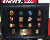 COCA COLA OLYMPIC PIN SET FRAMED WITH EASEL BACK LIMITED EDITION