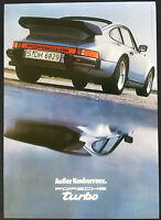PORSCHE 911 TURBO COUPE 40th ANNIVERSARY HERITAGE SHOWROOM POSTER (1980) 2004