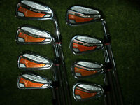 AWESOME COBRA GOLF CLUBS AMP FORGED IRONS 4-GW WITH STEEL KBS STIFF FLEX SHAFTS
