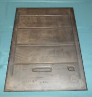 Vtg Ford Motor Co BRASS ADVERTISING PRINTING PRESS PLATE Lincoln Continental