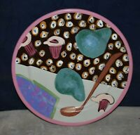 RARE HAND-PAINTED DROLL DESIGNS DINNER OR CAKE PLATE PLATTER – GORGEOUS