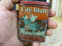 CITY CLUB TOBACCO VERTICAL POCKET TIN SMOKING MIXTURE CAN STRATER BROS USA
