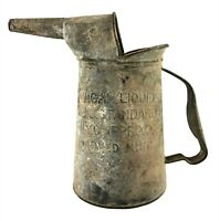 Vintage 1/4 Gallon U.S. STANDARD NYC APPROVED Galvanized Oil Can Pitcher