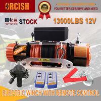 ORCISH 13000LB Electric Winch ATV UTV Offroad Waterproof Boat Dyneema Cable Kit