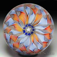 Lundberg Studios two-colored crown glass paperweight, by Alejandro Aguirre