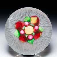 Antique New England Glass Company bouquet of fruit glass paperweight