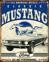 Ford Motor Company Mustang Classic Vintage Rustic Tin Sign, 12.5