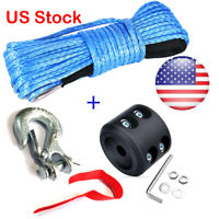 8000LBs Synthetic Winch Line Cable Rope & Sleeve  Winch Hook For ATV UTV etc US