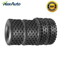 Set of 4 MaxAuto 22X7-10 20X11-9 ATV Sport Tires 4Ply&6Ply 2 Front +2 Rear Tires
