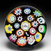 Peter McDougall 2005 PCA concentric millefiori miniature glass paperweight